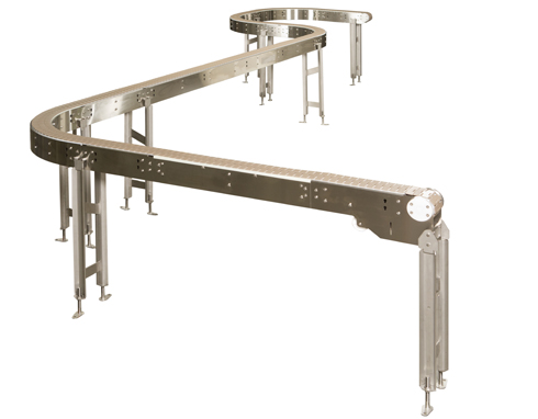 conveyor belt with t-slots
