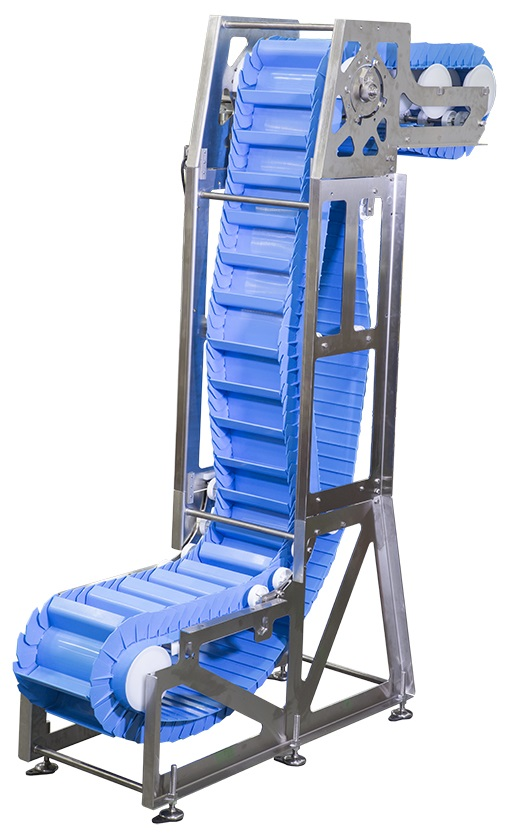 Dorner's AquaPruf Vertical Belt Conveyor